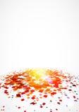 Coriandoli variopinti su fondo bianco con grande luce royalty illustrazione gratis