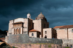 The Coricancha the Cathedral of Santo Domingo Stock Image