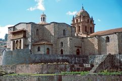 coricancha cuzco每个寺庙 免版税库存图片