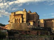 Coricancha - templo del Sun Imágenes de archivo libres de regalías
