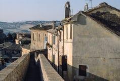 Corinaldo, de muren Stock Fotografie
