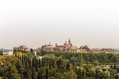 Corinaldo Marche Italien Arkivfoto