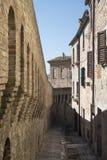 Corinaldo marsze, Włochy przy rankiem obraz stock