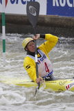 Corinna Kuhnle in water slalom world cup race Royalty Free Stock Photos