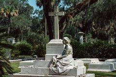 Corinne Elliott Lawton Cemetery Statuary Statue Bonaventure Cemetery Savannah Georgia fotos de archivo libres de regalías