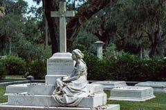 Corinne Elliott Lawton Cemetery Statuary Statue Bonaventure Cemetery Savannah Georgia foto de archivo libre de regalías
