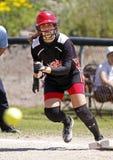 Corinne muy pequeño del gautron de Winnipeg de las muchachas de Fastpitch Imagen de archivo
