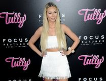 Corinne Olympios. At the Los Angeles premiere of `Tully` held at the Regal LA LIVE Stadium 14 in Los Angeles, USA on April 18, 2018 Stock Images