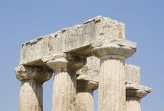 Corinth ancient ruins Stock Image