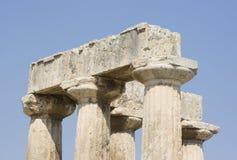 Corinth ancient ruins Stock Image