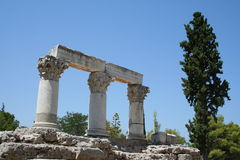 Corinth antico Immagini Stock