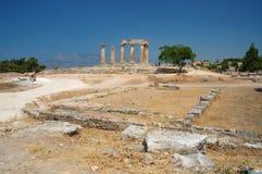 Corinth antiguo Fotografía de archivo libre de regalías