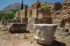 Corinth antiguo Foto de archivo