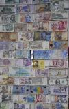 Corinth, august 28th: Money Background bills. Money Background Bills from the Souvenirs Shop from Corinth Canal place in Greece on august 28th 2017 stock image