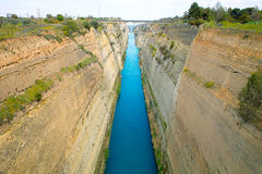 Corinth Canal. The old Corinth Canal in Greece build in the 18. century Royalty Free Stock Photo