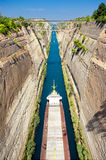 Corinth canal Royalty Free Stock Image