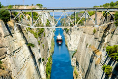 Free Corinth Canal Royalty Free Stock Photos - 37739488