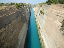 Corinth Canal. A View of the Corinth Canal Stock Photo