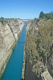 Corinth Canal. Bridge over the Corinth Canal Stock Photo