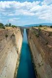Corinth canal Royalty Free Stock Photos