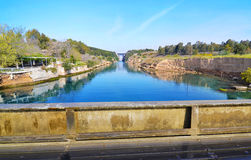 Corinth canal - Corinth Isthmus Greece Stock Photos