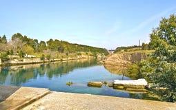 Corinth canal - Corinth Isthmus Greece stock photos