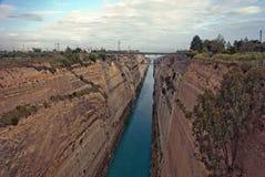 Corinth Canal, Greece Stock Photo