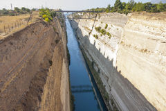 Corinth Canal Stock Images