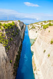 Corinth Canal in Greece Stock Photos