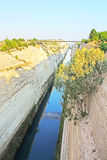 The Corinth Canal, Greece Royalty Free Stock Images