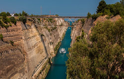 The Corinth Canal, Greece. Royalty Free Stock Photography