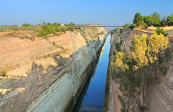 The Corinth Canal, Greece Stock Images