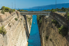 The Corinth Canal in Greece Royalty Free Stock Image