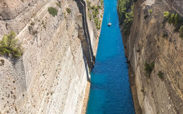 The Corinth Canal in Greece Stock Photography