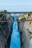 The Corinth canal Isthmus of Corinth in Greece stock photos