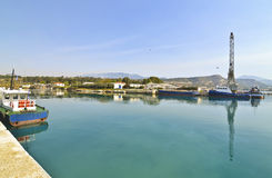 Corinth canal Saronic gulf Greece Stock Images