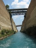 Corinth Canal View Stock Photo