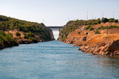 Corinth Canal. Royalty Free Stock Photo
