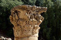 Corinth capitel, Izrael Zdjęcia Royalty Free
