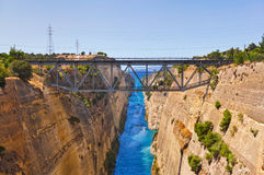 Corinth channel in Greece Royalty Free Stock Photo