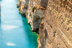 Corinth channel in Greece - holydays mood Royalty Free Stock Photo