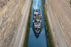 Corinth Channel, Greece Royalty Free Stock Image