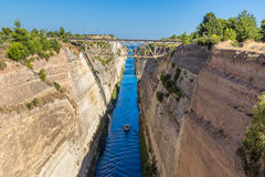 Corinth channel in Greece Stock Image