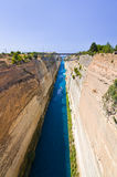 Corinth channel in Greece Stock Photography