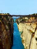 Corinth channel in Greece Royalty Free Stock Photos