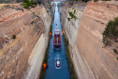 Corinth Channel Stock Photography