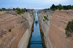 Corinth Channel Royalty Free Stock Images
