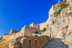 corinth fort gammala greece Royaltyfri Bild