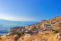 corinth fort gammala greece Arkivbild