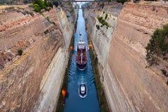 Corinth kanal Arkivbild
